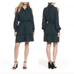 Eliza J Hunter Green Button Down Shirtdress 6